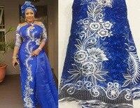 Последние Персиковое Африканское кружево ткань 2018 Высокое качество кружево вышивка Французский сетки с бусины в нигерийском стиле ткани, м...