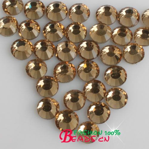 Light coffee color Crystal Hot Fix DMC Stones crystal Glass Stones Machine  Cut Strass Rhinestones diy dress shoes-in Rhinestones from Home   Garden on  ... d90970f48e9f