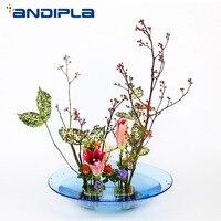 Brief Exquisite Plastic Flower Pot Fruit Plate Tabletop Hydroponics Flowerpot Japanese Style Flower Arrangement Basin Home Decor