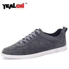 YEALON Männer Schuhe Luxusmarke Aus Echtem Leder Wohnungen Schuhe Männer hohe Qualität Schwarz Casual Schuhe Für Männer 2016 Neue Zapatos Hombre