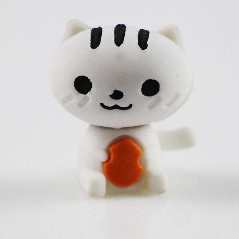 1X Cute Cartoon Eraser Lovely Kitten Modelling Eraser Children Stationery Gift Prizes  Kawaii School Office Supplies Papelaria