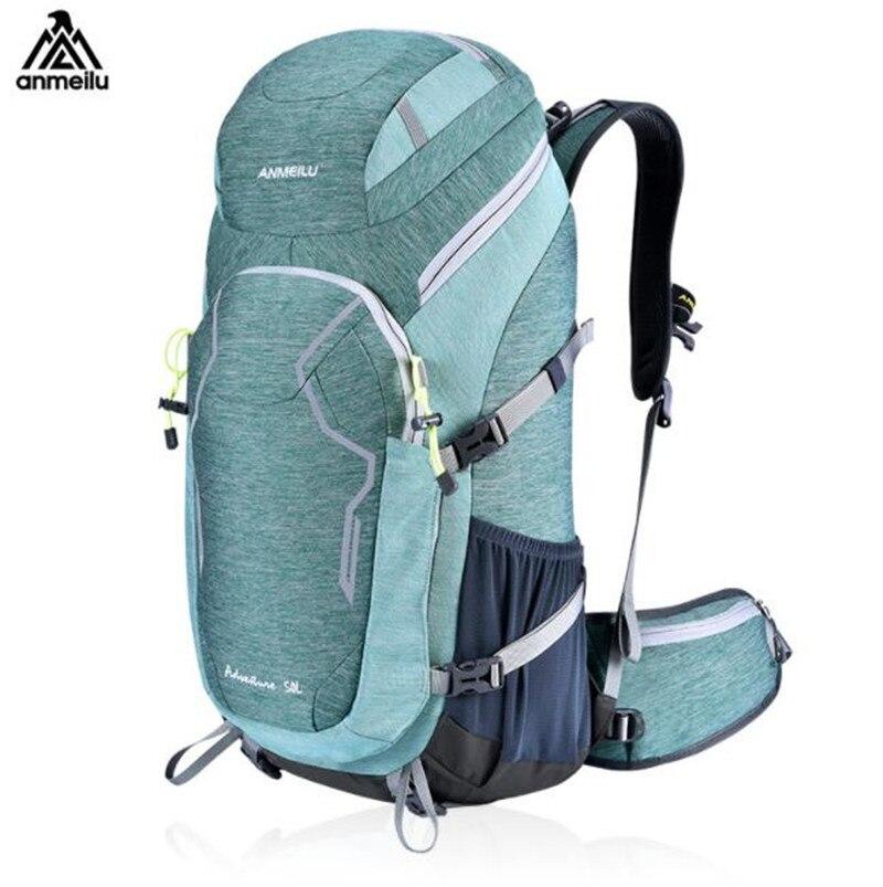ANMEILU hommes femmes 50L randonnée sac à dos couverture de pluie étanche en plein air Camping Sport sac grande capacité voyage escalade sac à dos