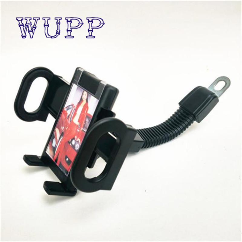 Auto 360 degree Adjustable <font><b>Motorcycle</b></font> <font><b>Mount</b></font> Holder Stand For Universal Mobile <font><b>Phone</b></font> GPS car-stRearview Mirror <font><b>Mount</b></font> Holder jan17