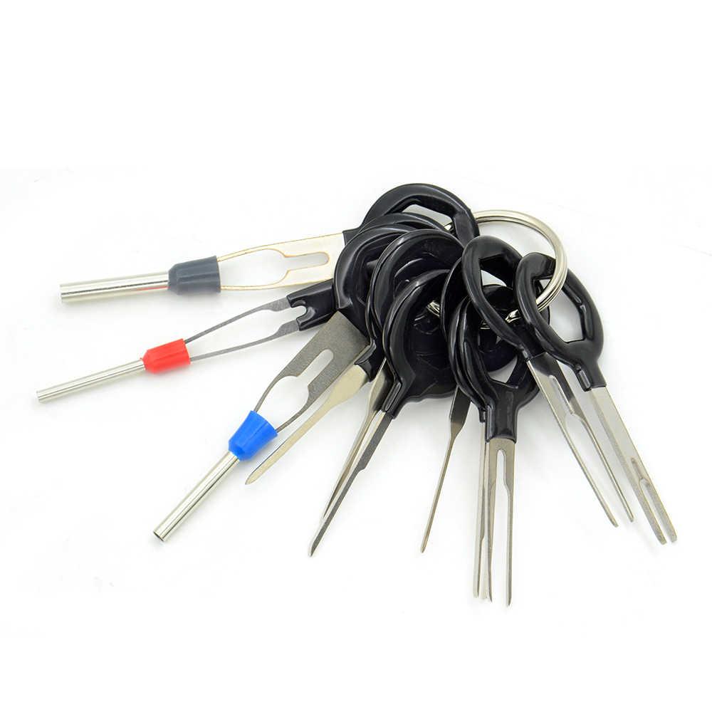 Auto coche enchufe 11 piezas placa de circuito cable arnés Terminal extracción conector engarzado Pin volver aguja quitar conjunto de herramientas