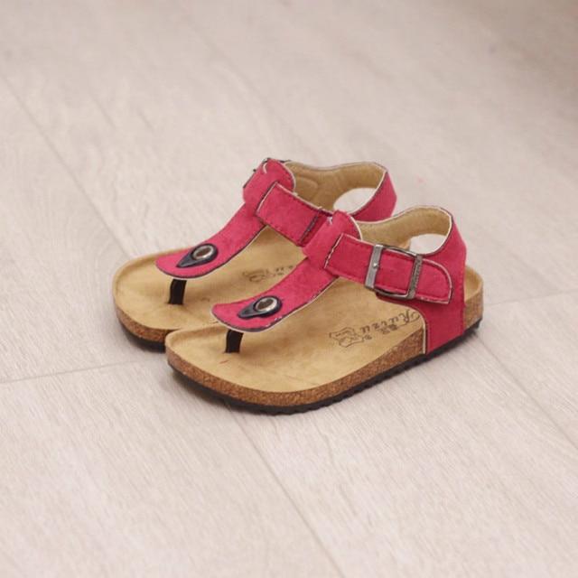 76b96c469 Kids Sandals 2018 New Famous Brand Summer Shoes Leather Boys Kids Flip  Flops Sandals Candy Color
