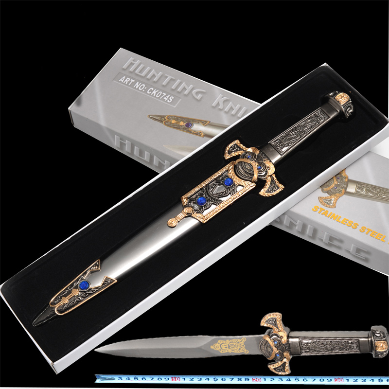 Western Metal samll sword All metal short swords Family beautifully furnished gifts for friends 36cm