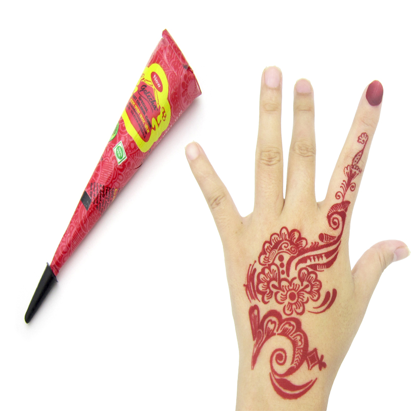6 Pcs Berwarna Golecha Henna Tattoo Pasta Krim Mehndi India 6 Warna