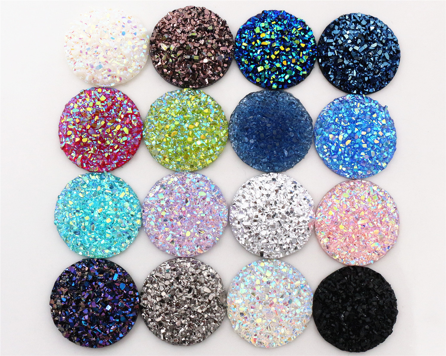 New Fashion 10pcs 20mm Mix Colors Natural ore Style Flat back Resin Cabochons For Bracelet Earrings accessoriesNew Fashion 10pcs 20mm Mix Colors Natural ore Style Flat back Resin Cabochons For Bracelet Earrings accessories