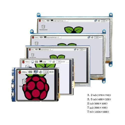 Raspberry pi 3.2/3.5/5/7 polegada toque lcd HDMI Apoio módulo Raspberry Pi 2/3 B +