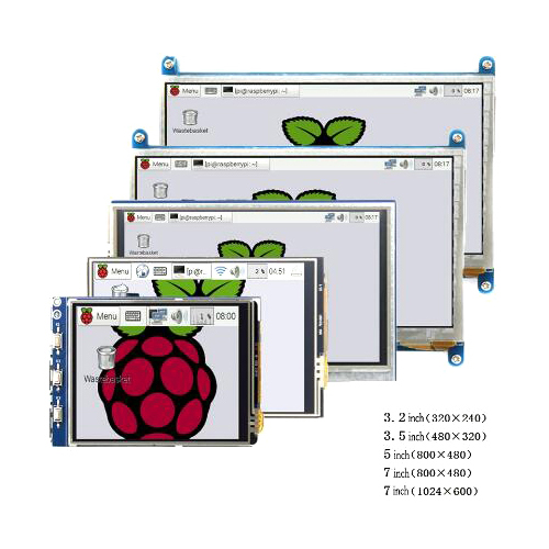 Raspberry pi 3.2/3.5/5/<font><b>7</b></font> <font><b>inch</b></font> touch HDMI <font><b>LCD</b></font> display module Support Raspberry Pi 2/3 B+ image
