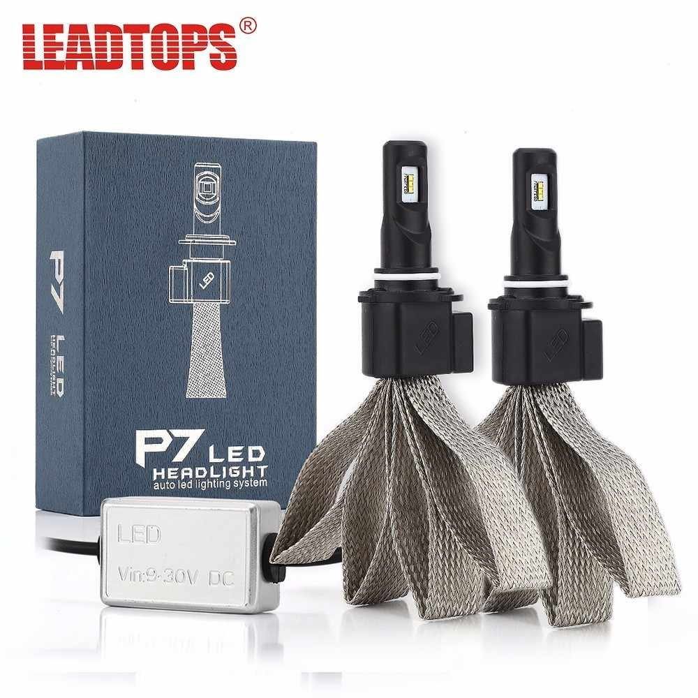 LEADTOPS H4 LED H1 H7 H11 9005 9006 LEDs Car Headlight Bulbs Csp Chip 9600lm 6000K Auto Headlamp White Accessoires EJ