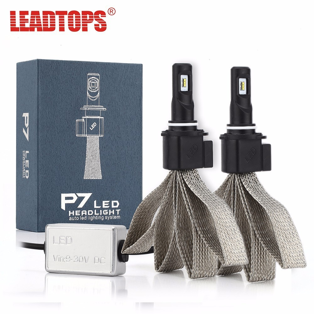 LEADTOPS H4 Hi/Lo H1 H7 H11 9005 9006 LED Car Headlights 8000lm 6000K High Brightness Auto LED Lights Conversion Kit EJ