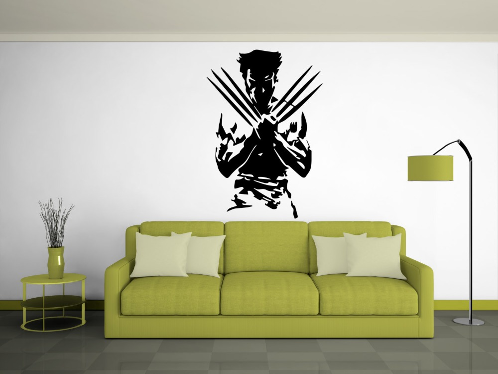 Beautiful Aliexpress.com : Buy Famous Superhero Wolverine X Men Sexy Silhouette Wall  Stickers Home Cool Fashion Style Decor Art Vinyl Wall Mural Decals W 94  From ... Part 2