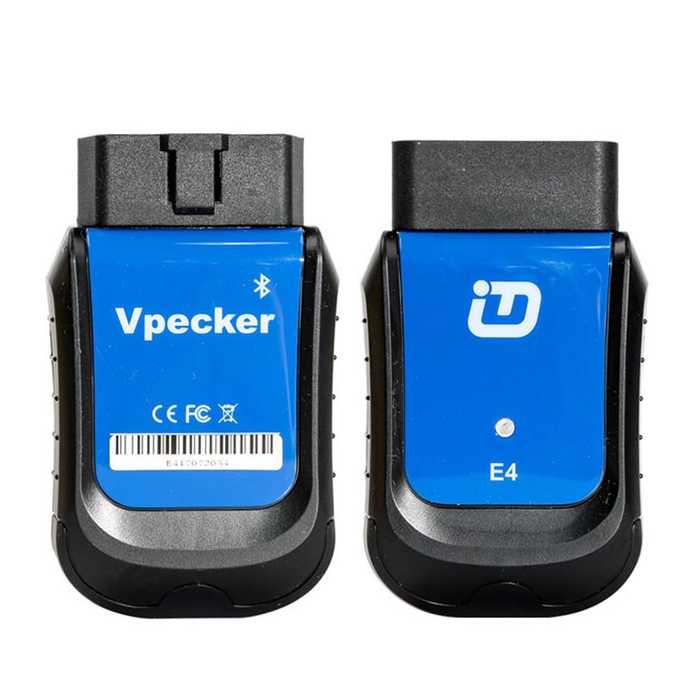 VPECKER E4 для простой диагностики, с Bluetooth Полный Системы OBDII диагностического инструмента для телефона Android