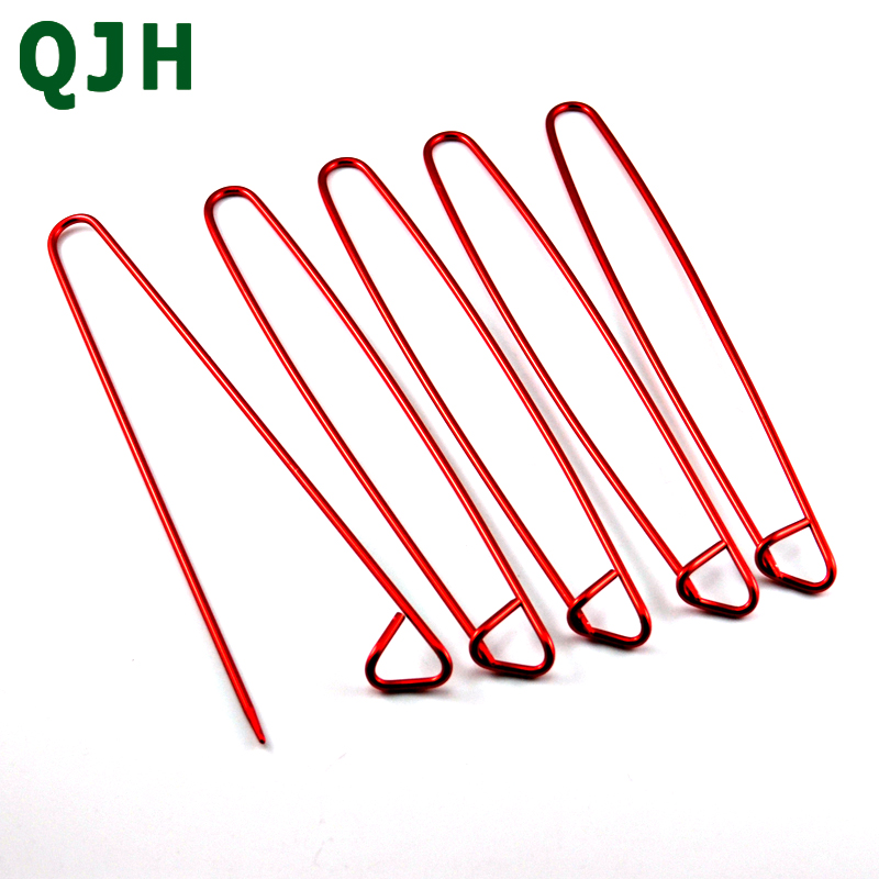 Modern 5Pcs Aluminum Knitting Needles Clip Craft Knitting Stitch Holders Safety Pins Crochet Hooks Locking Weaving Sewing Tools
