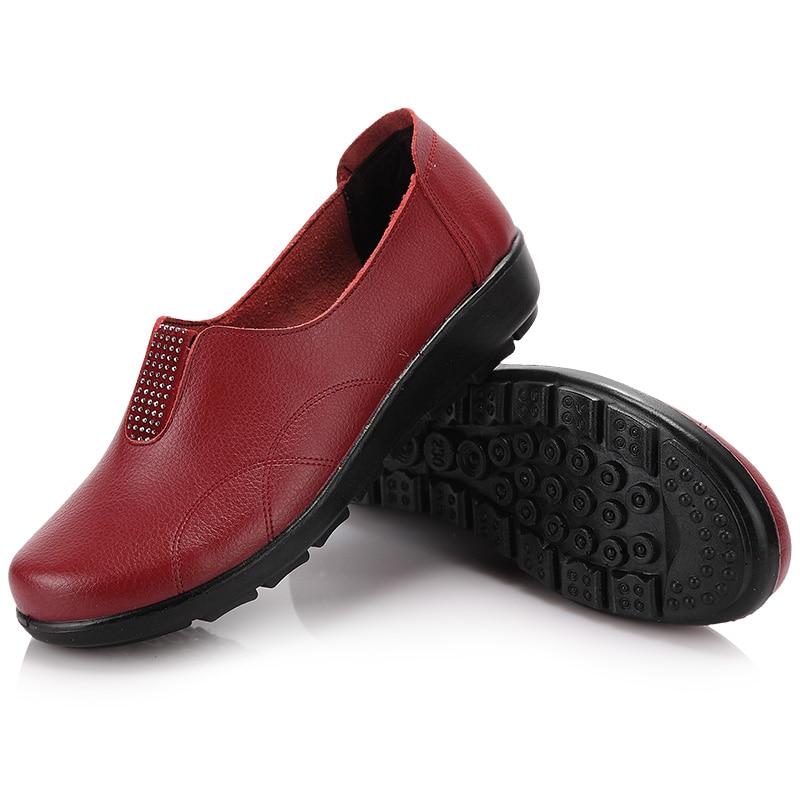 De alta calidad de la nueva llegada mujeres zapatos de cuero genuinos pisos indi