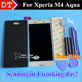 High Quality New LCD Display + Digitizer Touch Screen Assembly For Sony Xperia M4 Aqua Cellphone 5.0 inch Black White Color