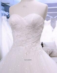 Image 4 - מקסים אונליין מתוקה שנהב שרוולים שמלות כלה Vestidos דה Novia תפור לפי מידה הכלה שמלה עם תחרת אפליקציות