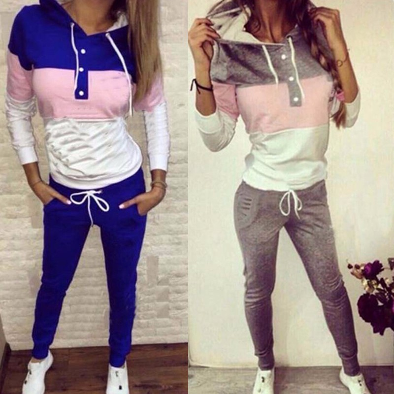2017 font b Ladies b font Costumes Suit Tracksuit for Women set 2 Pieces Set Streetwear