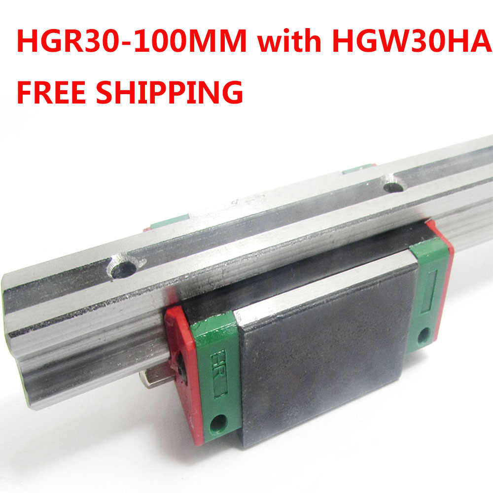 1PC free shipping HGR30 Linear Guide Width 30MM Length 100MM with 1PC HGW30HA Slider for cnc xyz axis large format printer spare parts wit color mutoh lecai locor xenons block slider qeh20ca linear guide slider 1pc