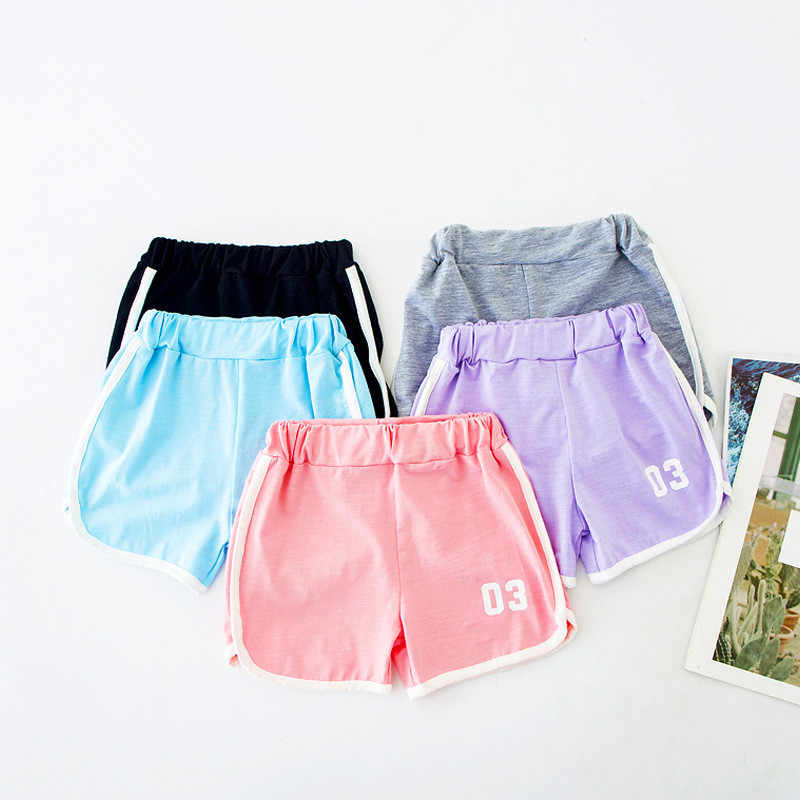 3-9Yrs Kids Shorts Boys Girls Summer Sport Shorts Pants Unisex Children Candy Color Casual Short Pants Brief Children Beach Pant