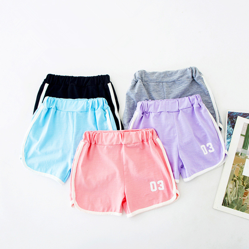 Summer Kids Children Cotton Strap Shorts Boys And Girl Clothes Baby Beach Pants