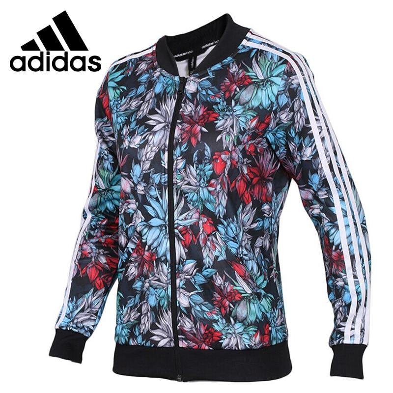Original New Arrival 2018 Adidas NEO Label W VDAY BOMBER Women's jacket Sportswear striped trim fluffy panel bomber jacket