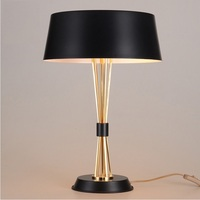 50cm Height 3 Light Table Lamp with Metal Shade / Golden Lamp / Black or White