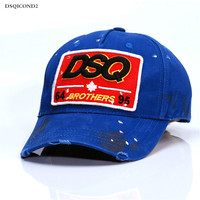 DSQ Euramerican Tide Brand Men S Baseball Cap Lady Street Tide Cap Visor Four Outdoor Leisure