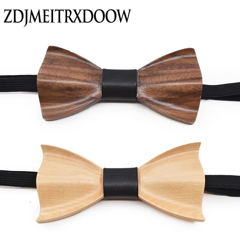 Bekleidung Zubehör Neuheit Dreidimensionale Holz Fliege Für Männer Jäten Klassische Holz Bowtie Holz 3d Handmade Wooden Krawatten Gravata