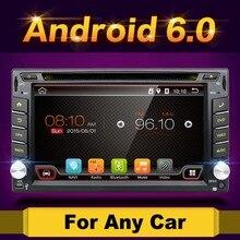 Quad Core 800*480 2 Din Android 6.0 Fit NISSAN QASHQAI Tiida Car Audio Stereo Radio GPS TV 3G WiFi dvd automotivo Universal DDR3