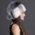 QiuMei Mulher Russa Chapéu de Pele De Vison Patchwork Engrossar 6 Cores de Malha com Pompom de Pele De Raposa Top Aquecimento de Luxo Senhoras Tampas de Peles De Vison