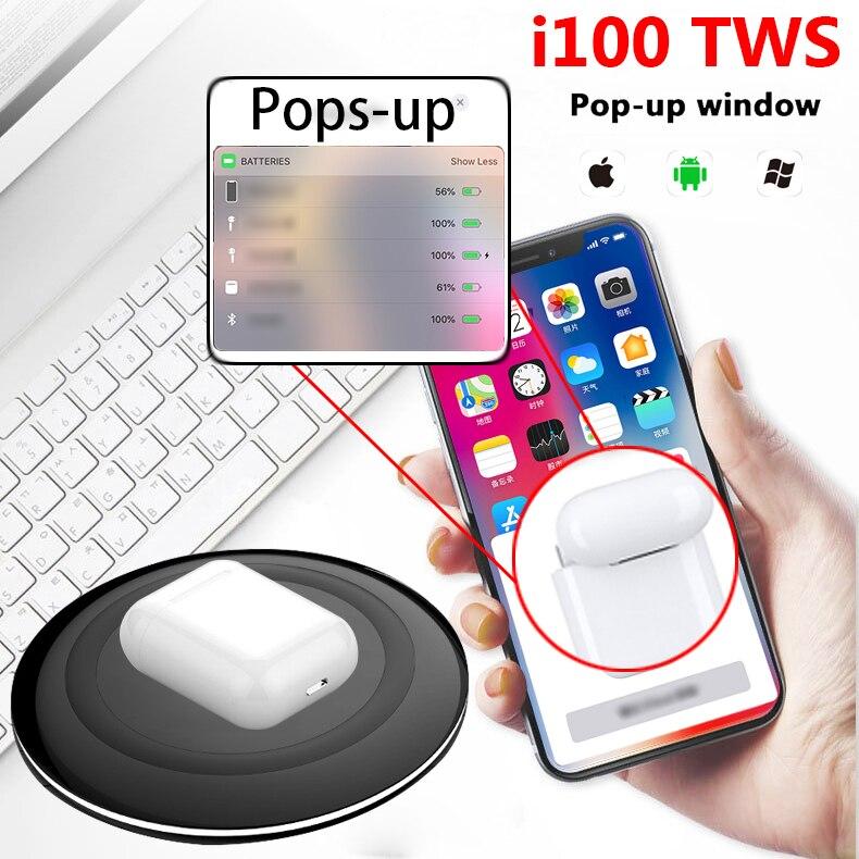 Original I100 1:1 Air TWS 5.0 Bluetooth écouteurs écouteurs XY sans fil PK w1 puce i30 LK TE9 LK-TE9 casque pour téléphone
