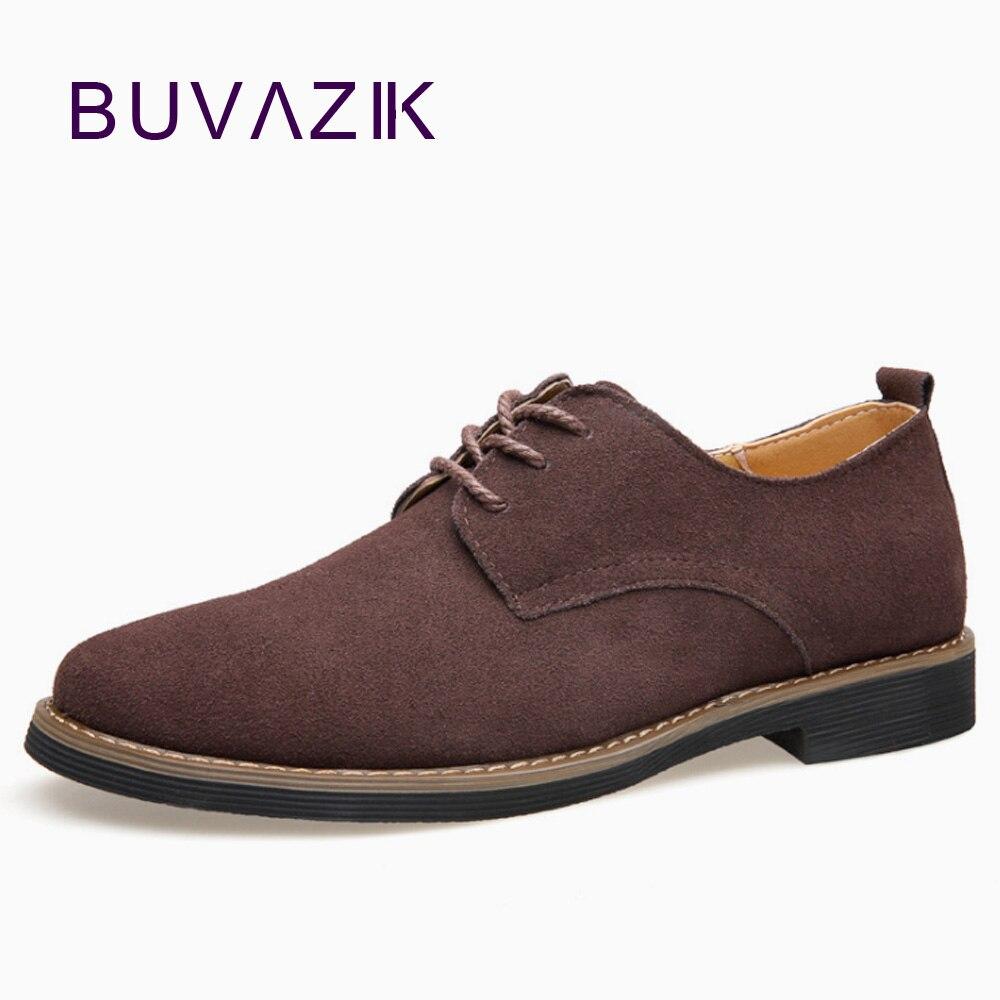 6bf976c5a5 BUVAZIK nueva moda hombre elegante oxfords flock casual zapatos formal  vestido Oficina calzado - a.dupa.me
