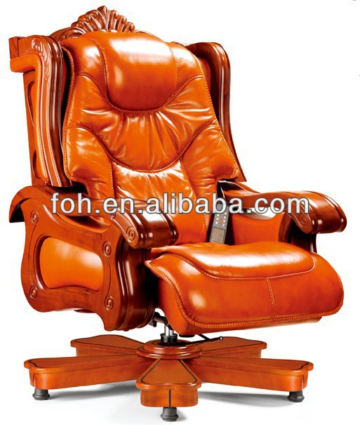 luxury wooden executive office chair, electric massage office