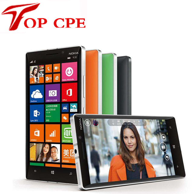 "Original nokia lumia 930 desbloqueado 32 gb quad core 2.2 ghz 2g ram 5.0 ""20.0MP WIFI GPS NFC Windows Phone Envío gratis"