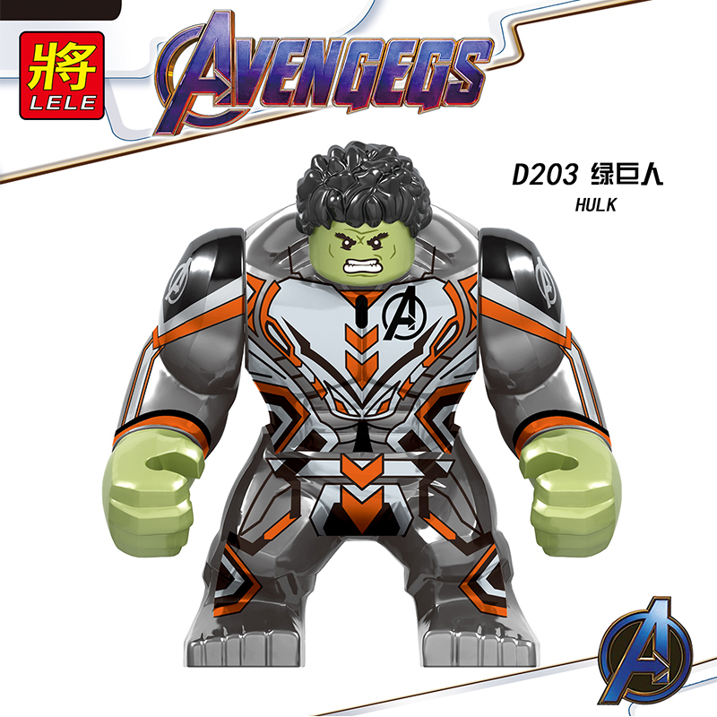 20pcs/lot Legoed Superheroes Figure Hulk Spiderman Iron Man Infinity Gauntlet Stones Big Size Building Block Bricks Toys D20320pcs/lot Legoed Superheroes Figure Hulk Spiderman Iron Man Infinity Gauntlet Stones Big Size Building Block Bricks Toys D203