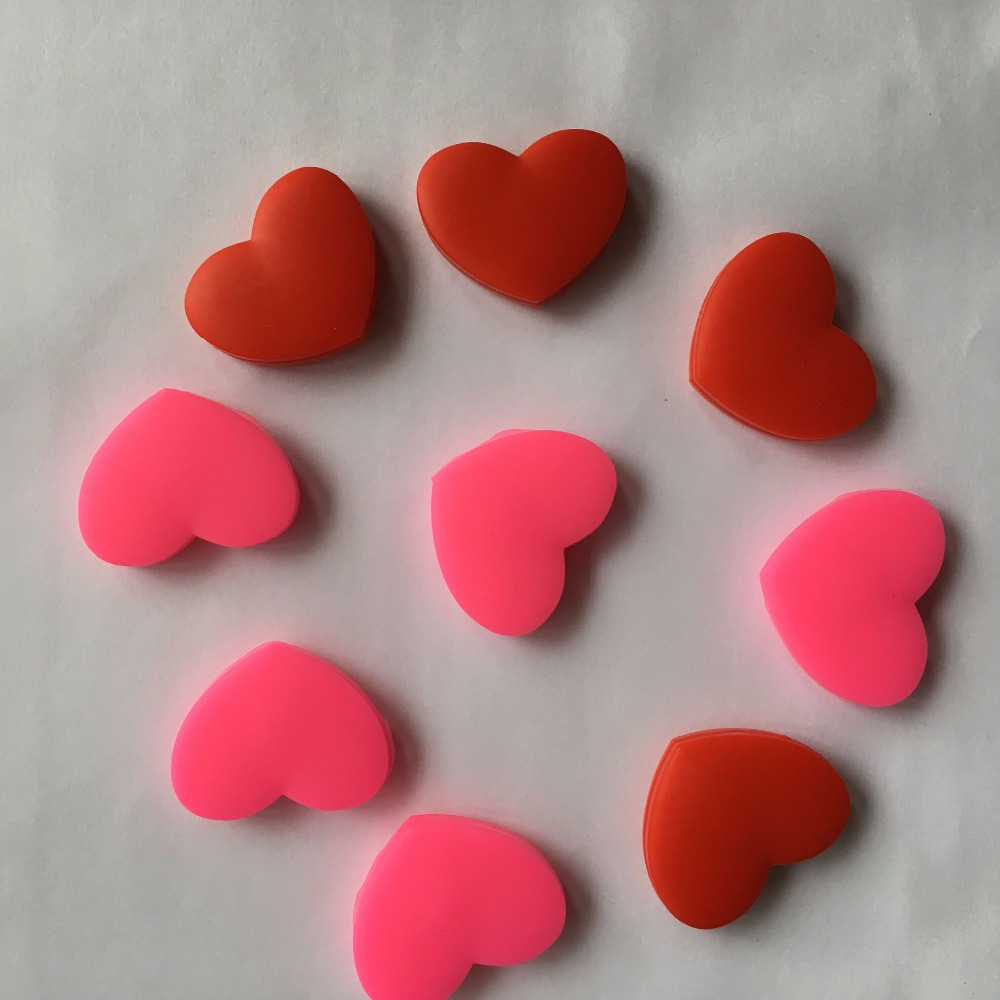 (Special Offer)10 Pcs Red And Pink Heart Sharapova Tennis Damper Shock Absorber To Reduce Tenis Racquet Vibration Dampeners