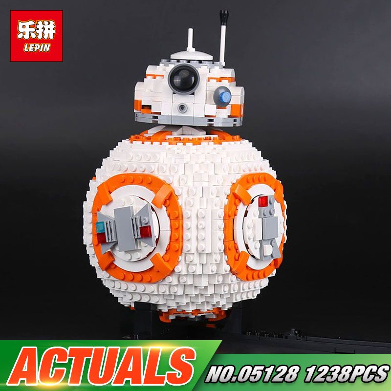 Actuals Lepin 05128 Star Toys Wars The 75187 BB8 Robot Set Building Blocks Bricks New Kids Toys Christmas Birthday Gifts Model 20cm ogrum 44007 robot brain attack hero factory 5 0 star soldier action figures model building bricks blocks kids toys gifts