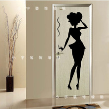 Sex girllady Wall stickers Clothes Shop Window Glass Wall Decals Girl Art Wall Sticker Bedroom Pub Bar Door Decoration
