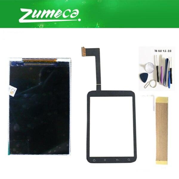 3,2 дюймов для htc Wildfire S A510e G13 ЖК-дисплей сенсорный экран дигитайзер сенсорная панель объектив стекло черный цвет с комплектом