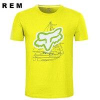 New summer T-shirt men's brand clothing short T-shirt men's boats top 100% cotton T-shirt A54
