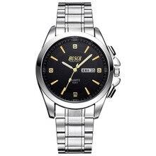 BOSCK 8361, relógio dos homens de lazer, super relógios de marca, display duplo calendário relógio de quartzo, negócio relógios de moda à prova d' água