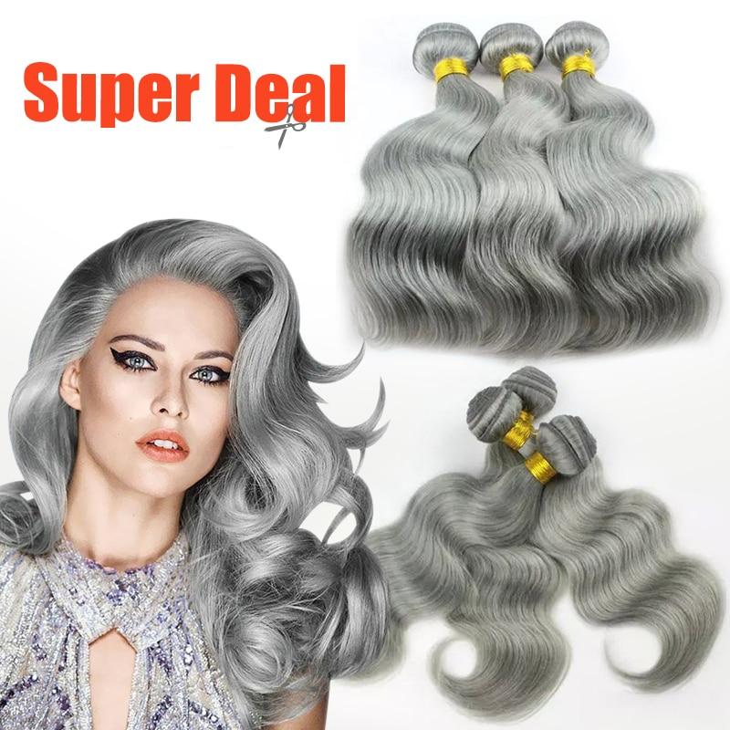 hot beautiful gray grey weave