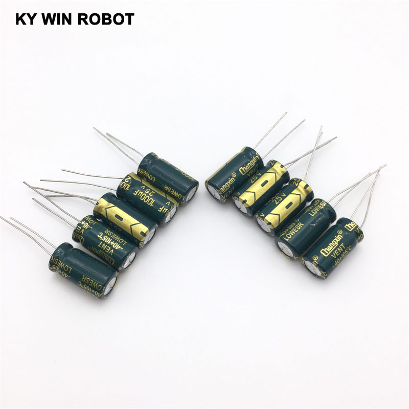 Image 5 - free shipping 10pcs Aluminum electrolytic capacitor 1000uf 25v 10*20 Electrolytic capacitor Hot sale-in Capacitors from Electronic Components & Supplies