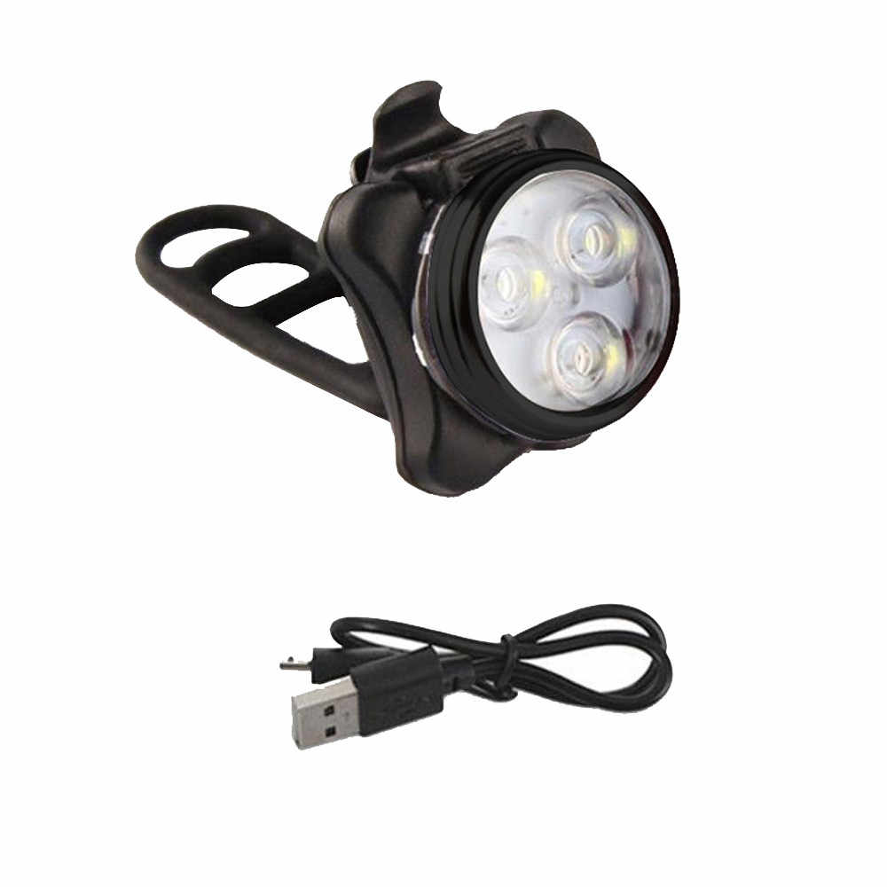 3Led Safety Warning Red Light Usb Rechargeable Bicycle Taillights New Night Light Riding Light Lampa Rowerowa #YL2