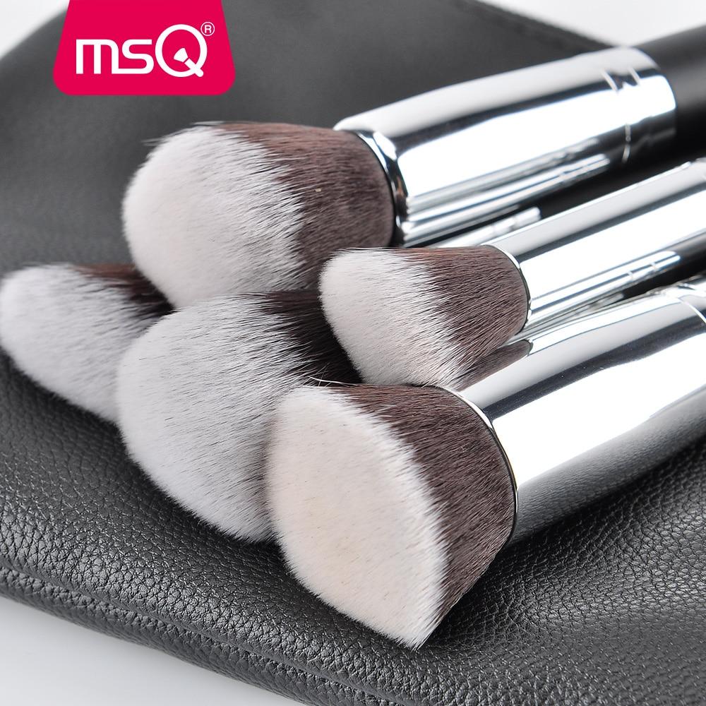 MSQ Pro 15pcs Makeup Brushes Set Powder Foundation Eyeshadow Make Up Brushes Cosmetics Soft Synthetic Hair With PU Leather Case 1