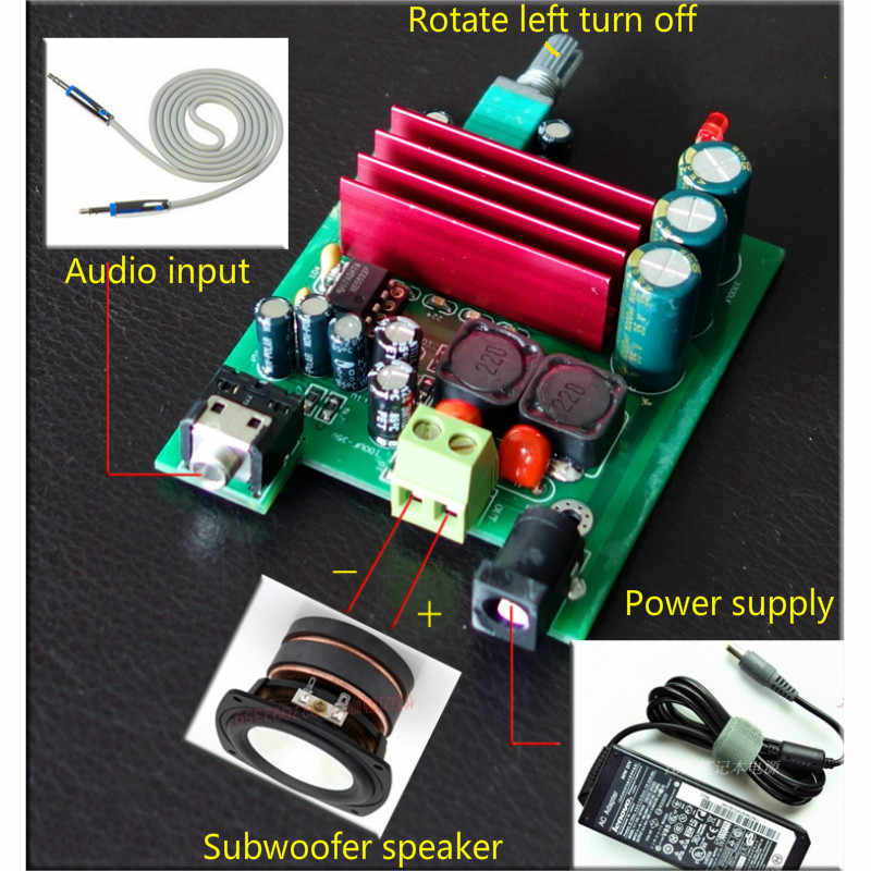 Aiyima TPA3116 100 Вт сабвуфер цифровой Мощность Усилители домашние доска TPA3116D2 Усилители NE5532 операционного усилителя 8-25 В