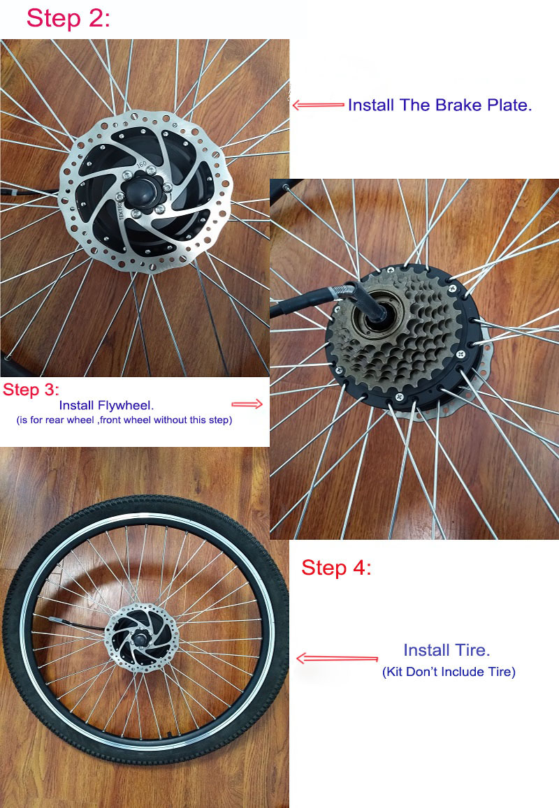 front wheel conversion kit, step 3