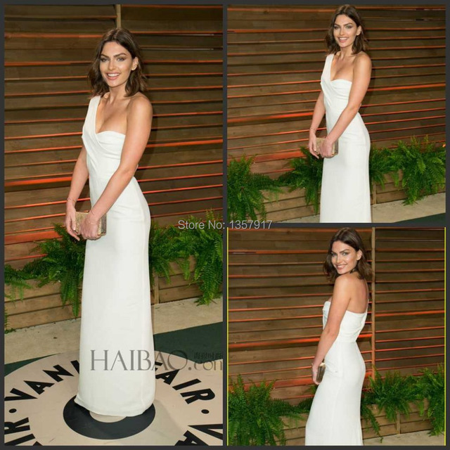 Alyssa Miller Vanity Fair Oscar Party de un hombro una línea de piso longitud vestido de noche largo Celebrity Dress Red Carpet